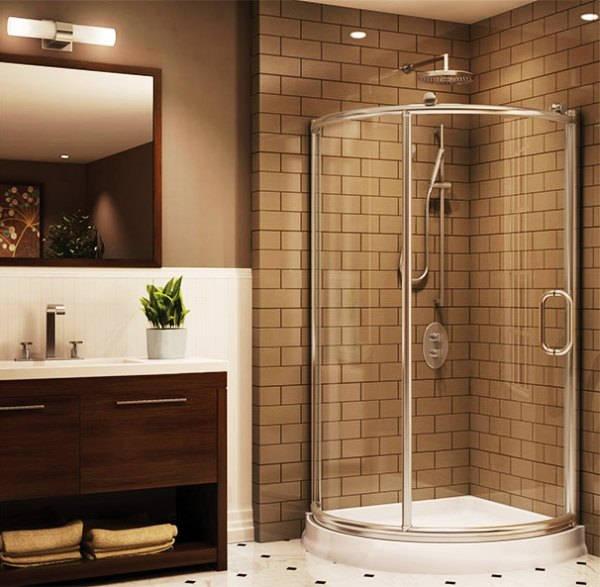 дизайн маленькой ванной с душевой кабиной фото