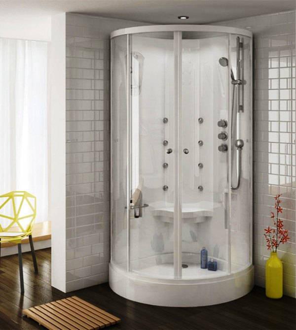 маленькая ванная комната с душевой кабиной фото
