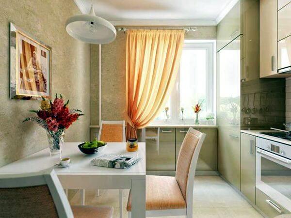 кухня на 9 квадратных метров фото