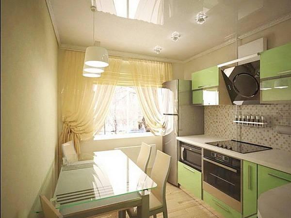 красивый дизайн кухни фото 9 кв метров