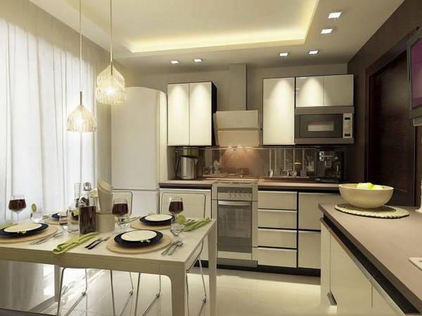 дизайн проект кухни 9 кв м фото