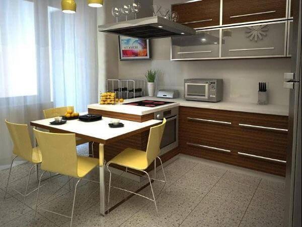дизайн интерьера кухни 9 кв метров фото 16