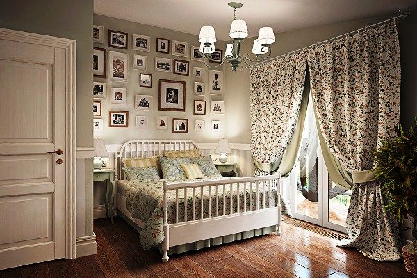 портьеры в спальню фото