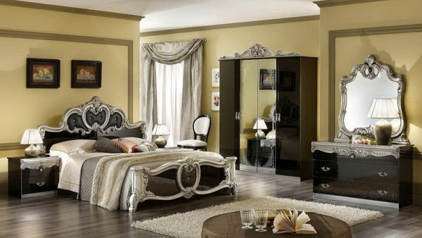 интерьер классической спальни фото