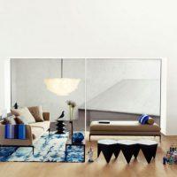 диван в интерьере гостиной фото 39