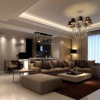 диван в интерьере гостиной фото 14