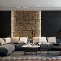 диван в интерьере гостиной фото 24