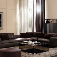диван в интерьере гостиной фото 47