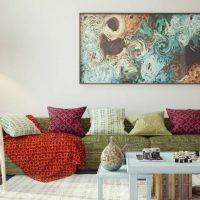 диван в интерьере гостиной фото 5