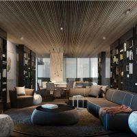 диван в интерьере гостиной фото 9