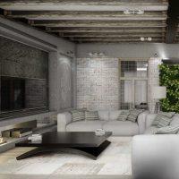 дизайн гостиной в стиле лофт фото 12