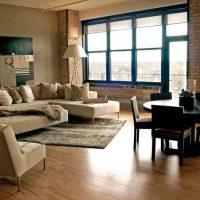 дизайн гостиной в стиле лофт фото 18