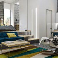 дизайн гостиной в стиле лофт фото 21
