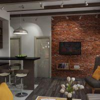 дизайн гостиной в стиле лофт фото 29