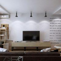 дизайн гостиной в стиле лофт фото 4