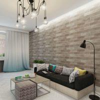 дизайн гостиной в стиле лофт фото 40