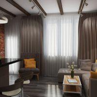 дизайн гостиной в стиле лофт фото 52