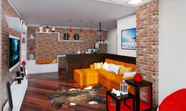 гостиная в стиле лофт фото 17