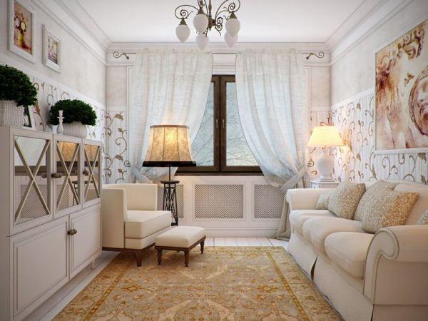 маленькая гостиная в стиле прованс фото