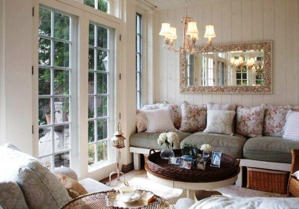 гостиная в стиле прованс фото интерьера