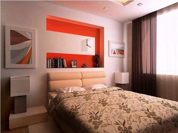 декор маленькой спальни фото