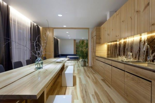кухня в экостиле фото