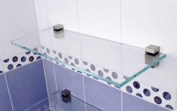 стеклянные полки в ванную комнату