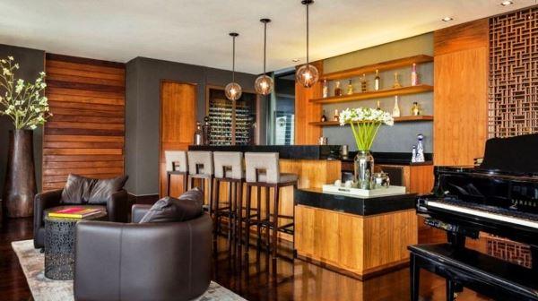 зал с барной стойкой дизайн фото