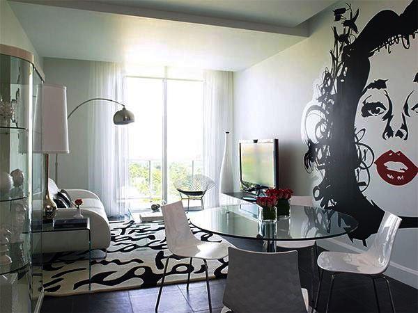 черно белый интерьер гостиной фото 5