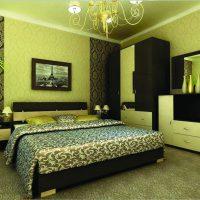 дизайн зеленой спальни фото 12