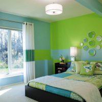 дизайн зеленой спальни фото 14