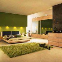 дизайн зеленой спальни фото 15