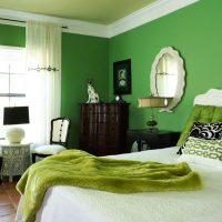 дизайн зеленой спальни фото 16