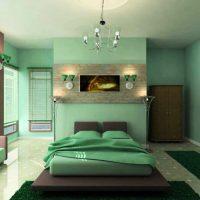 дизайн зеленой спальни фото 17