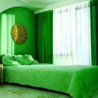 дизайн зеленой спальни фото 21