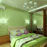 дизайн зеленой спальни фото 25