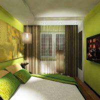 дизайн зеленой спальни фото 38
