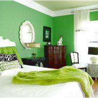 дизайн зеленой спальни фото 39