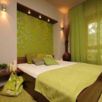 дизайн зеленой спальни фото 42