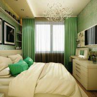 дизайн зеленой спальни фото 44