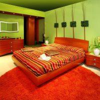 дизайн зеленой спальни фото 47