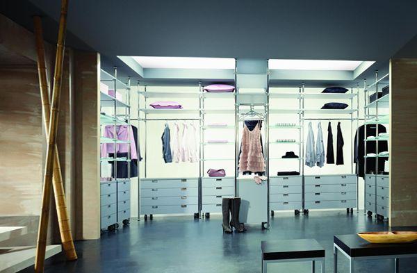 п образные гардеробные комнаты