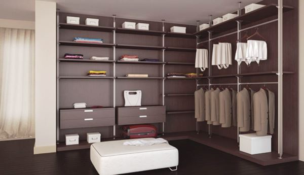 угловая гардеробная комната фото