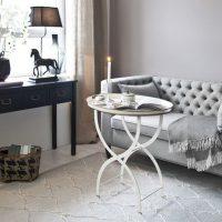 гостиная в черно белом цвете фото 10