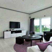 гостиная в черно белом цвете фото 15