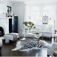 гостиная в черно белом цвете фото 16