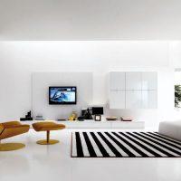 гостиная в черно белом цвете фото 17