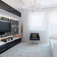 гостиная в черно белом цвете фото