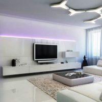гостиная в черно белом цвете фото 7