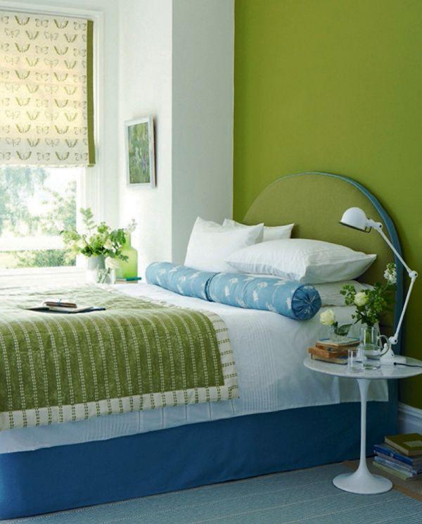 спальня в зеленых тонах фото 10